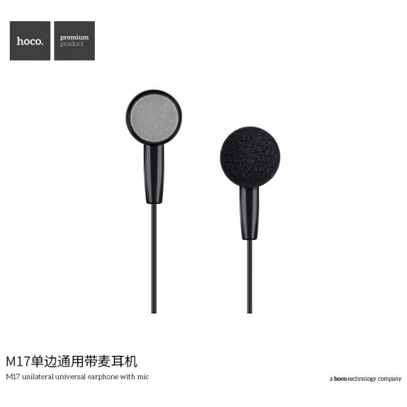HOCO Hands-Free sluchátko s jack konektorem pro Apple iPhone - černé - možnost vrátit zboží ZDARMA do 30ti dní