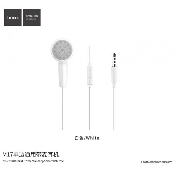 HOCO Hands-Free sluchátko s jack konektorem pro Apple iPhone - bílé - možnost vrátit zboží ZDARMA do 30ti dní