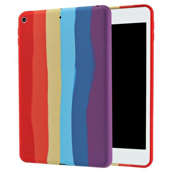 AppleKing silikonový kryt pro iPad mini 4 / 5 - duhový - možnost vrátit zboží ZDARMA do 30ti dní