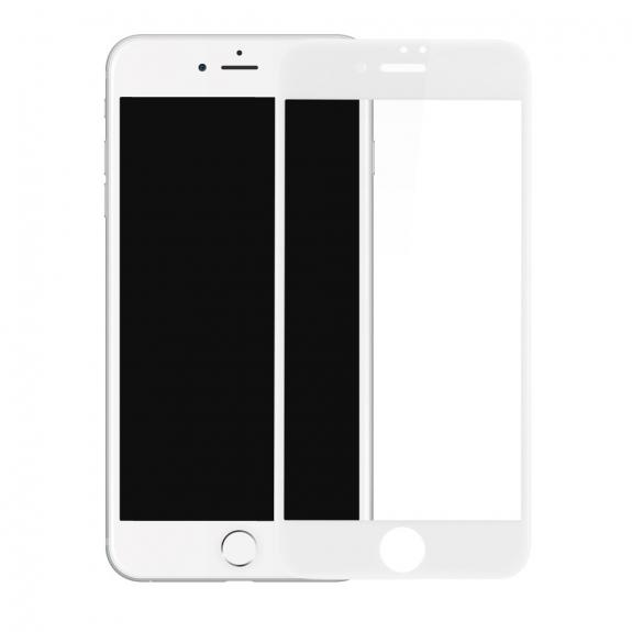 BASEUS super odolné 3D tvrzené sklo (Tempered Glass) na Apple iPhone 7 – Anti-blue-ray – bílé - možnost vrátit zboží ZDARMA do 30ti dní
