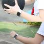 Baseus silikonový / gumový řemínek pro Apple Watch 38mm - bílý