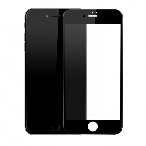 BASEUS super odolné 3D tvrzené sklo (Tempered Glass) na Apple iPhone 7 – Anti-blue-ray – černé - možnost vrátit zboží ZDARMA do 30ti dní