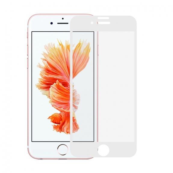AppleKing super odolné 3D tvrzené sklo (Tempered Glass) na Apple iPhone 7 Plus – bílé - možnost vrátit zboží ZDARMA do 30ti dní