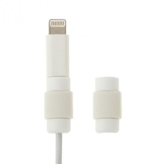 Plastová ochrana / rozlišovač nabíjecích kabelů - bílá