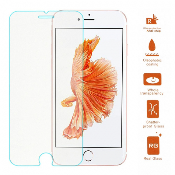 Super odolné tvrzené sklo (Tempered Glass) na Apple iPhone 8 Plus / 7 Plus - zaoblená hrana - 0.3mm