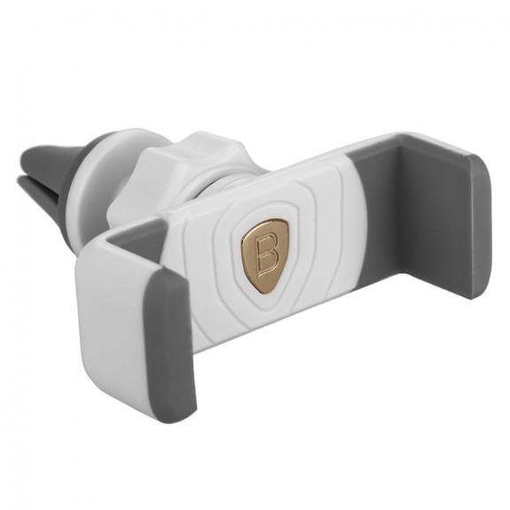 """BASEUS otočný 360° držák na ventilační mřížku auta pro zařízení vel. 3,5""""-5,5"""" – bílý - možnost vrátit zboží ZDARMA do 30ti dní"""