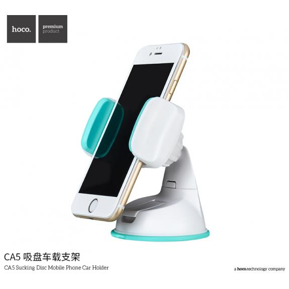 HOCO držák do auta s přísavkou pro Apple iPhone - modro-bílý - možnost vrátit zboží ZDARMA do 30ti dní