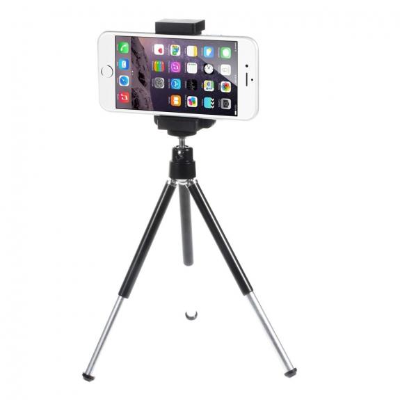 Univerzální stativ - stojánek s držákem a výsuvnými nohami pro Apple iPhone do šíře telefonu 7 cm