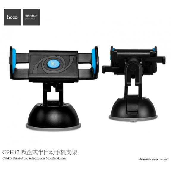HOCO držák do auta s přísavkou pro Apple iPhone - černo-modrý - možnost vrátit zboží ZDARMA do 30ti dní