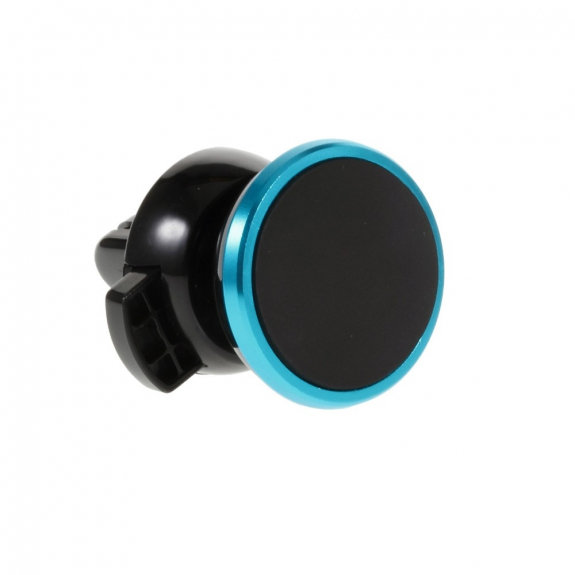 AppleKing univerzální 360° otočný magnetický držák na ventilační mřížku auta pro Apple iPhone a další zařízení – černo-modrý - možnost vrátit zboží ZDARMA do 30ti dní