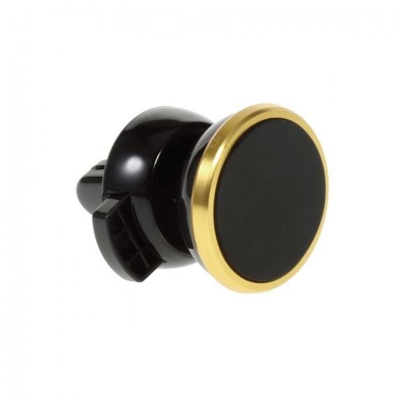 AppleKing univerzální 360° otočný magnetický držák na ventilační mřížku auta pro Apple iPhone a další zařízení – černo-zlatý - možnost vrátit zboží ZDARMA do 30ti dní