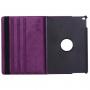Pouzdro / kryt s otočným držákem pro iPad Air 2 - fialové s bílými tečkami