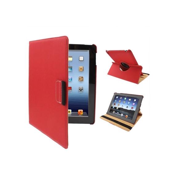 AppleKing pouzdro / kryt s otočným držákem pro iPad 4 / 3 / 2 - červené - možnost vrátit zboží ZDARMA do 30ti dní