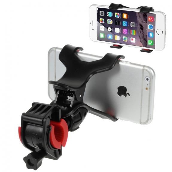 """AppleKing univerzální rotační držák na kolo pro Apple iPhone / iPod a další zařízení vel. až 6,3"""" – černý - možnost vrátit zboží ZDARMA do 30ti dní"""