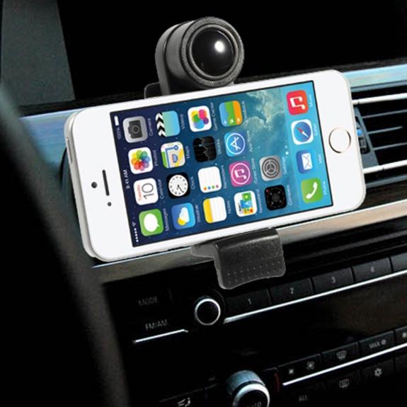 AppleKing univerzální 360° otočný držák na ventilační mřížku auta pro Apple iPhone a další zařízení – černý - možnost vrátit zboží ZDARMA do 30ti dní