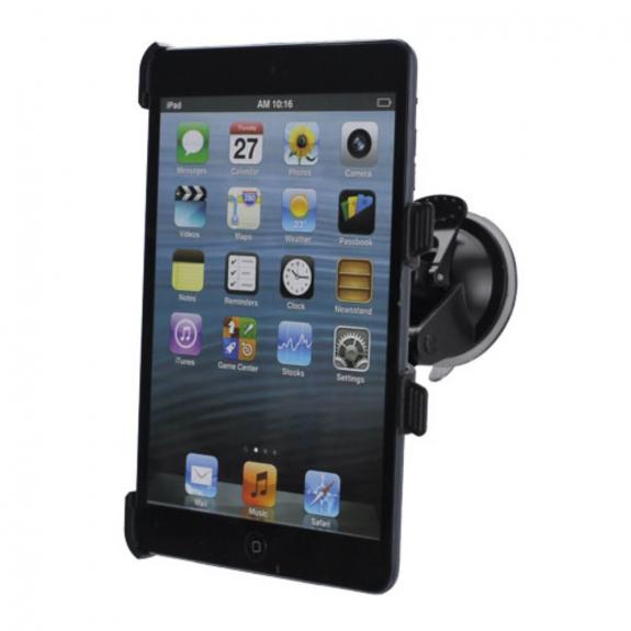 AppleKing držák s přísavkou do auta pro Apple iPad mini / mini 2 / mini 3 - 360° rotační – černý - možnost vrátit zboží ZDARMA do 30ti dní