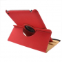 Pouzdro / kryt s otočným držákem pro iPad 4 / 3 / 2 - červené