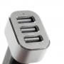 iFans výkonná nabíječka do auta (5.1A) se třemi USB porty pro Apple iPhone / iPad / iPod - černo-stříbrná