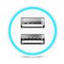 HOCO nabíječka do auta se dvěma USB porty (2.4A) - bílá