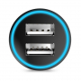HOCO nabíječka do auta se dvěma USB porty (2.4A) - černá