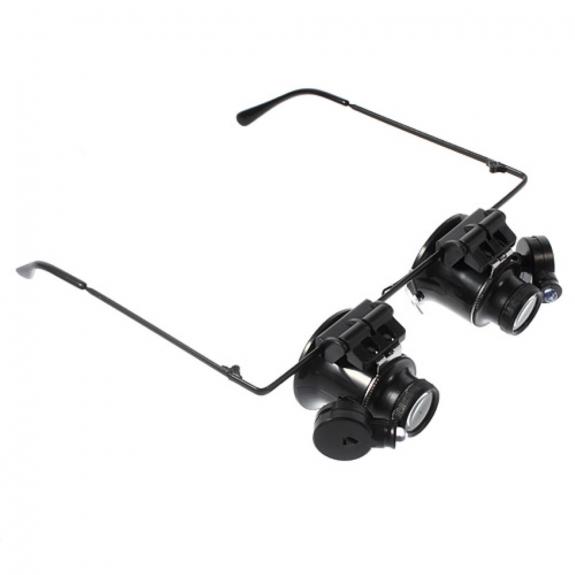 AppleKing brýle s výklopnou lupou (20ti násobné zvětšení) a LED osvětlením - možnost vrátit zboží ZDARMA do 30ti dní