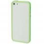Ochranný plastový rámeček / bumper pro iPhone 5 / 5S / SE - zelený