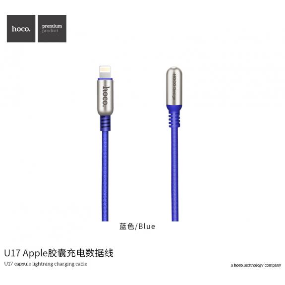 HOCO stylový kabel pro Apple zařízení - 2m - modrý - možnost vrátit zboží ZDARMA do 30ti dní