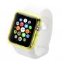 HAWEEL tenký průhledný obal / kryt pro Apple Watch 38mm - žlutý