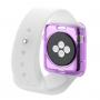 HAWEEL tenký průhledný obal / kryt pro Apple Watch 38mm - fialový