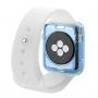 HAWEEL tenký průhledný obal / kryt pro Apple Watch 38mm - modrý