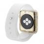 HAWEEL tenký průhledný obal / kryt pro Apple Watch 38mm - zlatý