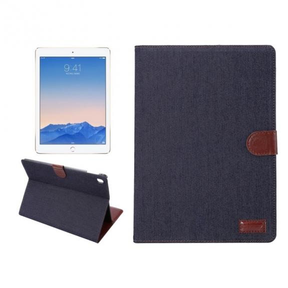 """AppleKing luxusní denim / riflové pouzdro s funkcí uspání a prostorem na doklady pro iPad Pro 9.7"""" / iPad Air 2 - možnost vrátit zboží ZDARMA do 30ti dní"""