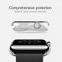 HAWEEL tenký průhledný obal / kryt pro Apple Watch 38mm - zelený