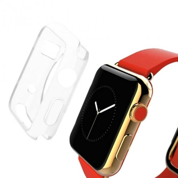 HAWEEL tenký průhledný obal / kryt pro Apple Watch 42mm - průhledný