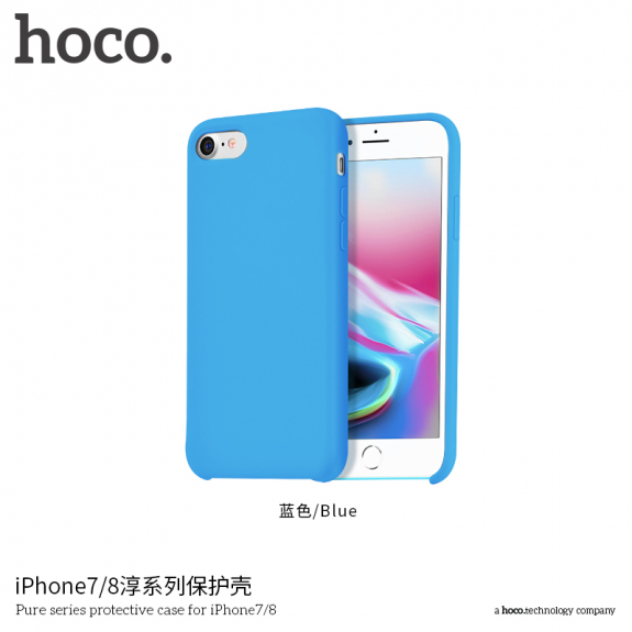 HOCO minimalistický silikonový kryt pro Apple iPhone 7   8 - modrý - možnost  vrátit zboží bf99318112b