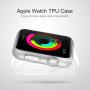 HAWEEL tenký průhledný obal / kryt pro Apple Watch 42mm - zlatý