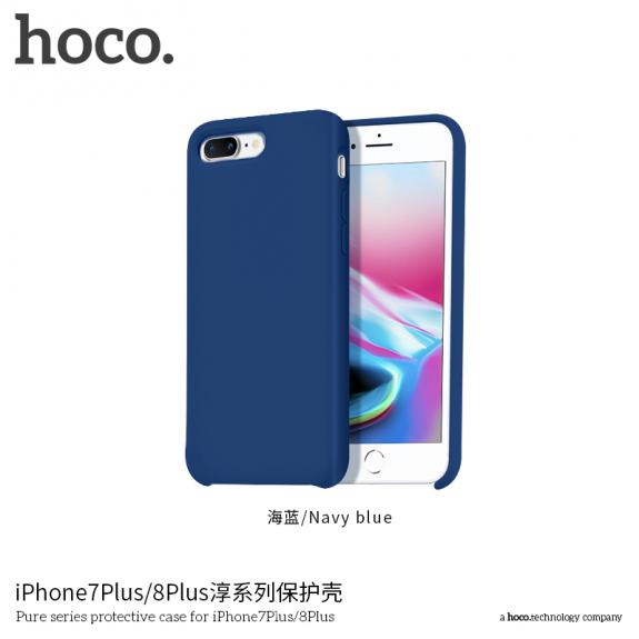 HOCO minimalistický silikonový kryt pro Apple iPhone 7 Plus   8 Plus -  tmavě modrý - 9ab1586c08c