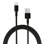 Synchronizační a nabíjecí kabel lightning pro Apple iPhone / iPad / iPod - 1m - černý - TOP kvalita