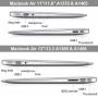 "Tvrzený ochranný plastový obal / kryt pro Macbook Air 13"" (model A1237 / A1466 / A1304 / A1369) - průhledný"
