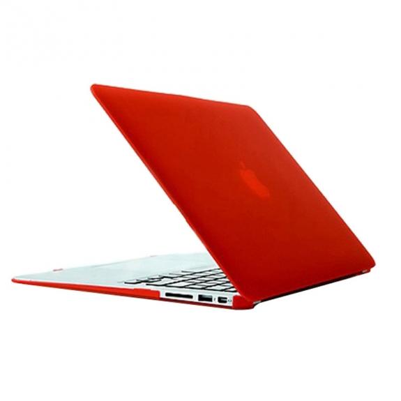 """AppleKing tvrzený ochranný plastový obal / kryt pro Macbook Air 13.3"""" – červený - možnost vrátit zboží ZDARMA do 30ti dní"""