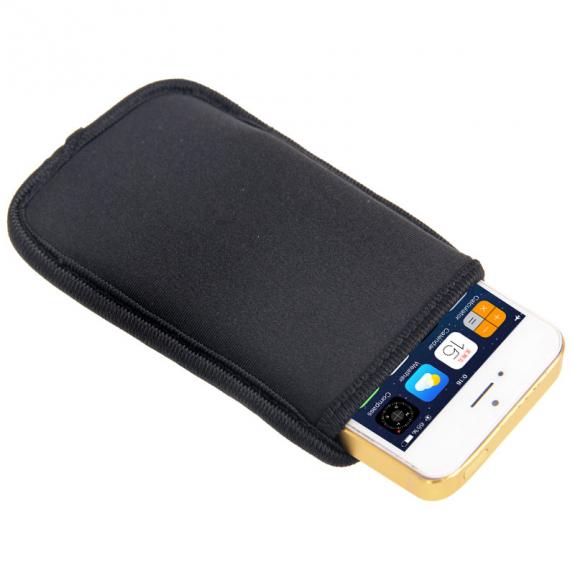 AppleKing neoprenová kapsa pro Apple iPhone 5 / 5S / SE - černá - možnost vrátit zboží ZDARMA do 30ti dní