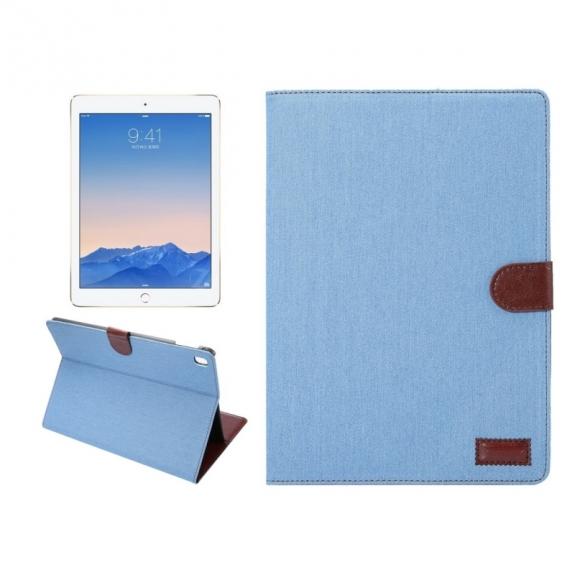 """AppleKing luxusní denim / riflové pouzdro s funkcí uspání a prostorem na doklady pro Apple iPad 9.7""""- nebesky modré - možnost vrátit zboží ZDARMA do 30ti dní"""