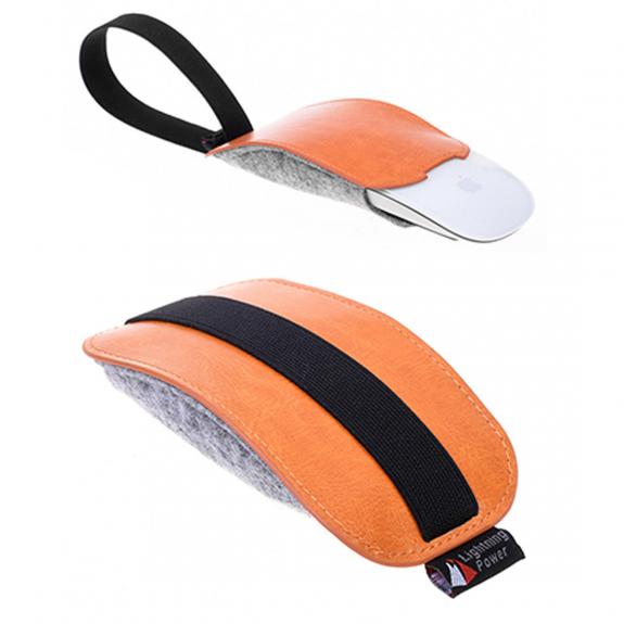 AppleKing elegantní pouzdro pro Apple Magic Mouse 2 - béžové - možnost vrátit zboží ZDARMA do 30ti dní