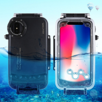 Vodotěsné pouzdro do hloubky 40m pro iPhone XS / iPhone X - černé