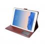 """Luxusní denim / riflové pouzdro s funkcí uspání a prostorem na doklady pro Apple iPad Pro 9.7""""- nebesky modré"""