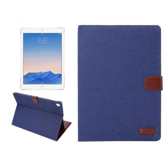 """AppleKing luxusní denim / riflové pouzdro s funkcí uspání a prostorem na doklady pro Apple iPad 9.7""""- tmavě modré - možnost vrátit zboží ZDARMA do 30ti dní"""