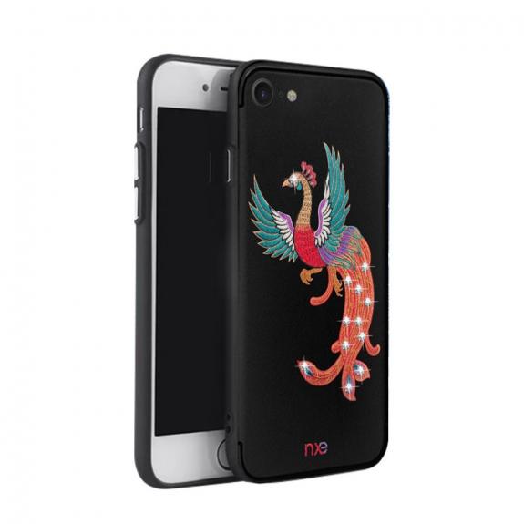 NXE luxusní ochranný kryt pro Apple iPhone 7 / 8 s výšivkou - páv - možnost vrátit zboží ZDARMA do 30ti dní