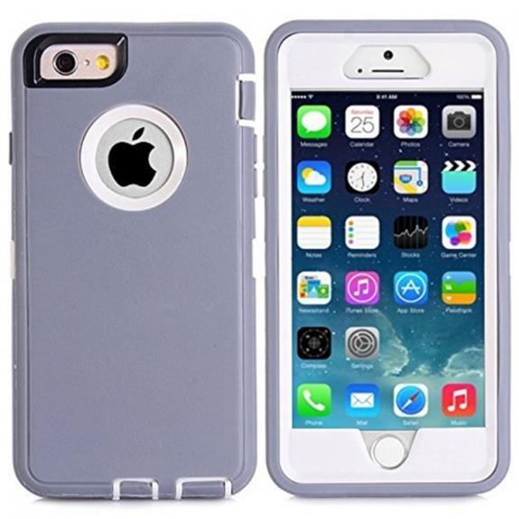 AppleKing super odolné / prachuvzdorné pouzdro pro Apple iPhone 6 / 6S - šedé - možnost vrátit zboží ZDARMA do 30ti dní