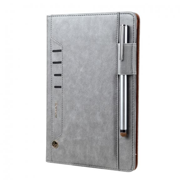 AppleKing luxusní pouzdro z umělé kůže pro Apple iPad Mini 4 - šedé - možnost vrátit zboží ZDARMA do 30ti dní