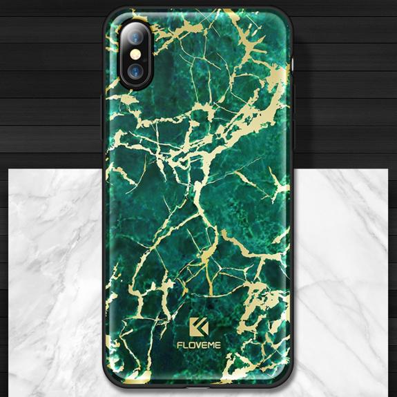 e00d5c5cc6 FLOVEME plastový kryt pro Apple iPhone X - zelený mramor - možnost vrátit  zboží ZDARMA do